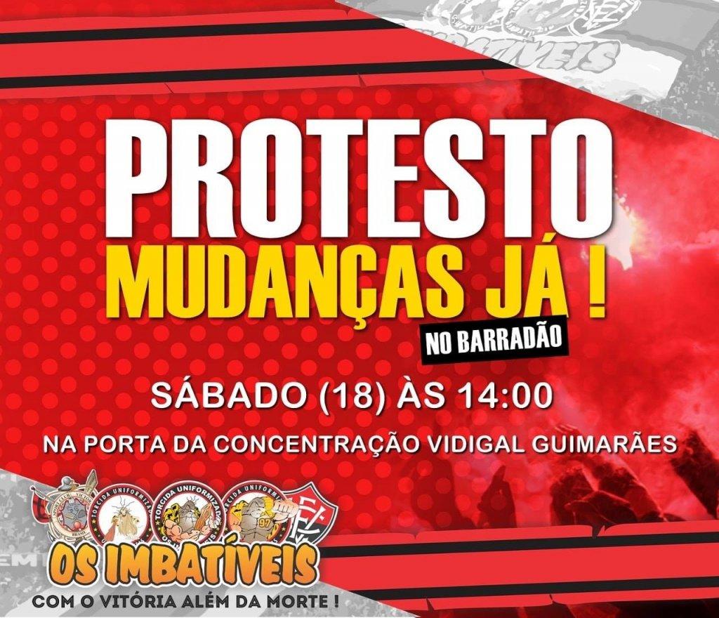 Mais um protesto de torcedores do Vitória será realizado nesta semana.  Desta vez 29e53555d5e9d