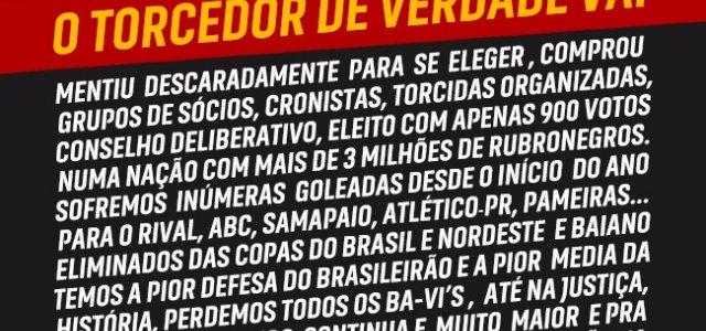 Torcida do Vitória faz novo protesto contra Ricardo David - Notícias -  Galáticos Online 426e4d4d45ed9