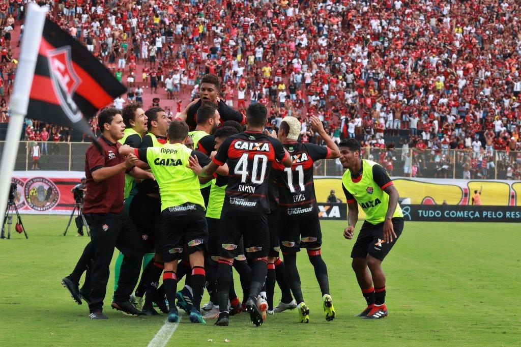 7964582bf7 Fim de linha para o Vitória na Série A. O Rubro-negro está oficialmente  rebaixado para a Série B do Brasileirão 2018.